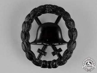 Germany, Imperial. A Wound Badge, Black Grade, Screw-Back Version