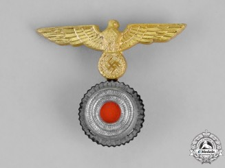 Germany. A Kriegsmarine NCO's Overseas One-Piece Cap Eagle and Cockade; First Pattern
