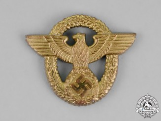 Germany. A Wasserschutzpolizei (Water Protection Police) Cap Eagle
