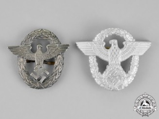 Germany. Two Third Reich Period Police Eagles