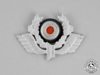 Germany. An Early Pattern Bahnschutz Polizei Cap Insignia