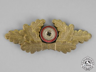 Germany. A NSDAP Political Visor Cap Wreath Insignia