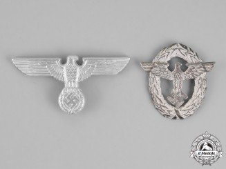 Germany. Two Visor Insignia