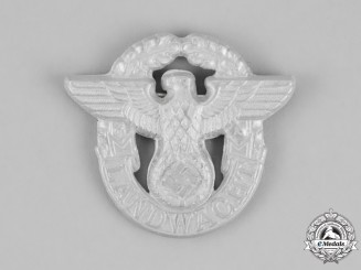 Germany. A Landwacht (Rural Police) Auxiliary Cap Badge