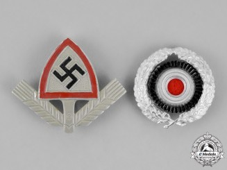 Germany. Two Third Reich Period Cap Insignia