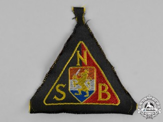 Germany. A National Socialist Movement in the Netherlands Black Shirt Sleeve Patch