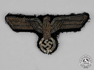 Germany. A Kriegsmarine Officer's Bullion Tunic Eagle, Uniform Removed
