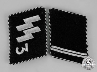 "Germany. A Set of Waffen-SS ""Der Führer"" Regiment Sturmmann Rank Collar Tabs; RZM Tagged"