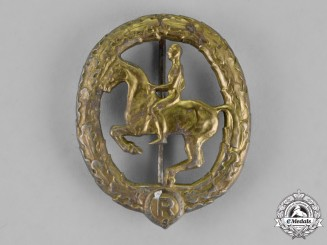Germany. A Bronze Grade German Horseman's Badge by L.CHR.Lauer