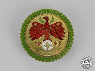 Tyrol, State. A 1943 Pistol Shooting Competition Badge