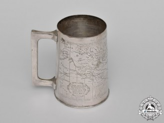 United States. An American Air Transport Command (ATC) Tankard Made from Brass Salvaged from Battlefields