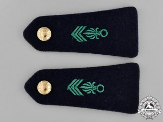 France. A Pair of Foreign Legion Legionnaire Second Class Shoulder Boards