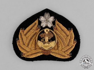 Japan. A Naval Officer's Cap Badge, c.1940