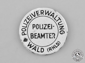 Germany. A Police Administration of the City of Wald in the Rhineland Tag