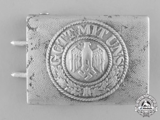 Germany, Wehrmacht. A Standard Issue EM/NCO's Belt Buckle
