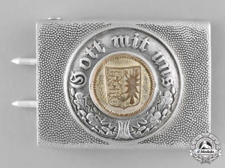 Schleswig-Hostein. A State Police Belt Buckle; Repurposed, by Friedrich Linden