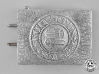 Oldenburg, State. A Police/Fire Defence Service EM/NCo's Belt Buckle