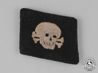 "Germany, SS. A Single 3rd Panzer Division ""Totenkop"" Collar Tab; Horizontal Version"
