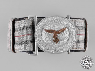 Germany, Luftwaffe. An Officer's Brocade Belt and Buckle