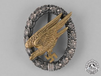 Germany, Luftwaffe. A Fallschirmjäger Badge, by C.E. Juncker of Berlin