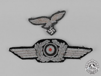 Germany, Luftwaffe. An Officer's Visor Cap Insignia