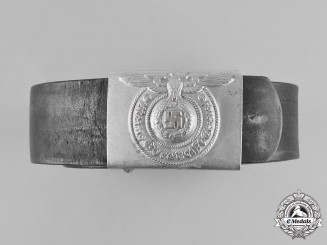 Germany, SS. A 1938 Aluminum Buckle with Belt