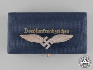 Germany, Luftwaffe. A Cased Civilian Radio Operator Badge, by C.E. Juncker