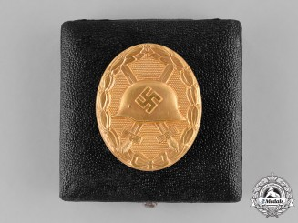 Germany. A Cased Wound Badge, Gold Grade