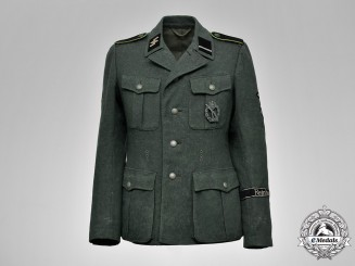 Germany. A Field Grey Waffen-SS Gebirgsjäger Sturmmann Rank Tunic