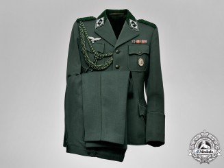 "Germany. A Mint Luftwaffe Forestry ""Forst Referrendar"" Tunic & Matching Trousers; First War Veteran"