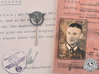 Germany, NSFK. A National Socialist Flyers Corps Stick Pins with Accompanying Documents