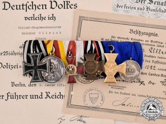 Germany, Baden. A Military Karl Friedrich Merit Medal & Bar with Documents 1917