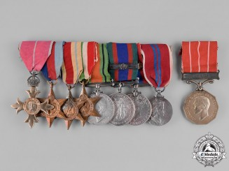 Canada. An MBE & MID Group to Lieutenant-Colonel Cyril Albert Simmons