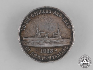 New Zealand. A Medallion Commemorating the HMS New Zealand in 1913