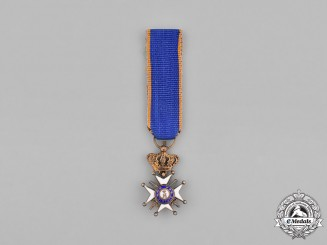 Nassau. A Miniature Military and Civil Order of Merit Adolph of Nassau, Cross with Swords