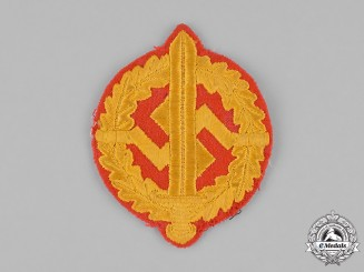 Germany, SA. An SA Military Defence Badge (SA-Wehrabzeichen) Embroidered Insignia