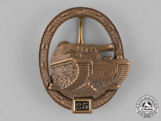 Germany, Federal Republic. A Special Grade Tang Badge for 25 Panzer Engagements, Alternative 1957 Version