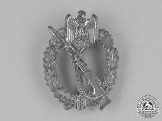 Germany, Heer. A Wehrmacht Heer (Army) Infantry Assault Badge, Silver Grade, by Adolf Schwerdt