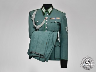 Germany, Polizei. A Schutzpolizei (Protection Police) Decorated Tunic and Trousers Uniform