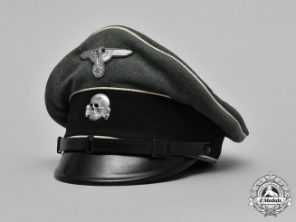 "Germany. A Waffen-SS NCO's Visor ""Crusher"" Cap"