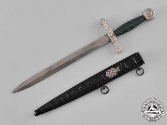 Croatia. A Treasury Guard Official's Dagger, M-1942