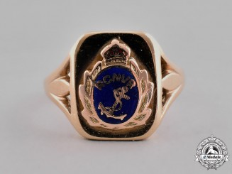 Canada. A Gold Royal Canadian Naval Volunteer Reserve (RCNVR) Ladies Ring