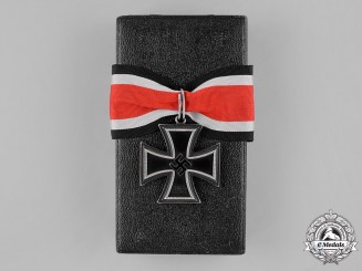 "Germany. A Cased Knights Cross of the Iron Cross by C.E. Juncker, ""Lazy 2"" Variant"