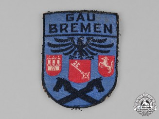 Germany, Weimer. A Stahlhelm Bremen District Sleeve Patch