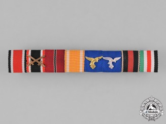 Germany, Wehrmacht. A Second War Period Medal Ribbon Bar