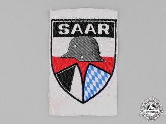 Germany, Weimar. A Stahlhelm Saar District Sleeve Patch