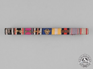 Germany, Wehrmacht. An Extensive First and Second War Period Medal Ribbon Bar