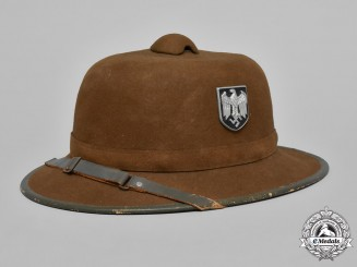 Germany, Heer. A Wehrmacht Heer (Army) Africa Corps Pith Helmet, c. 1942