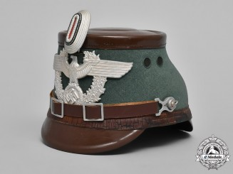 Germany, Polizei. An Auxiliary Police (Polizei) NCO's Shako by C. Pose, Berlin