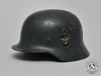 Germany, Police. An Ordnungspolizei M40 Steel Helmet, by Sächsische Emaillier & Stanzwerke